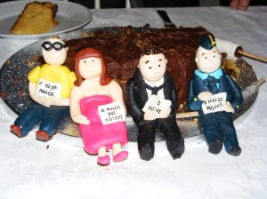 O bolo de aniversário da autoria do Amor às Camadas.