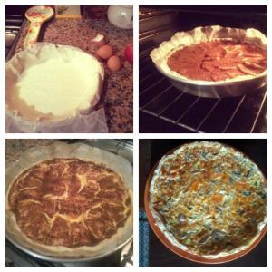 Passo 1, 2 e 3 da tarte e a quiche